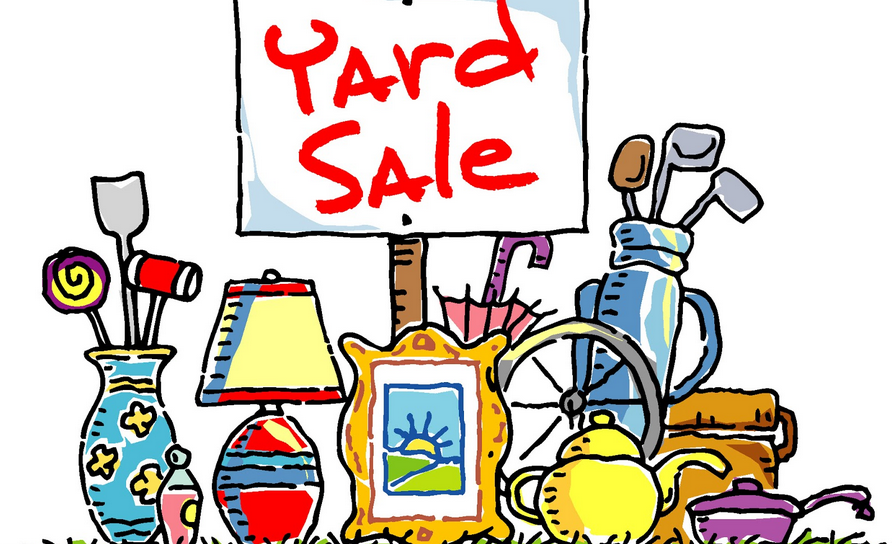 No use for your old junk? Then have a yard sale and sell them off! | Photo by Southern Belle Simple.